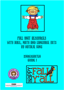 Fall Unit Study Materials Cover