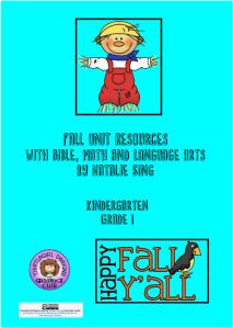 Fall Unit Study Materials Cover