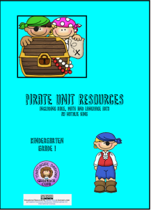 Pirate Unit Study Materials Cover