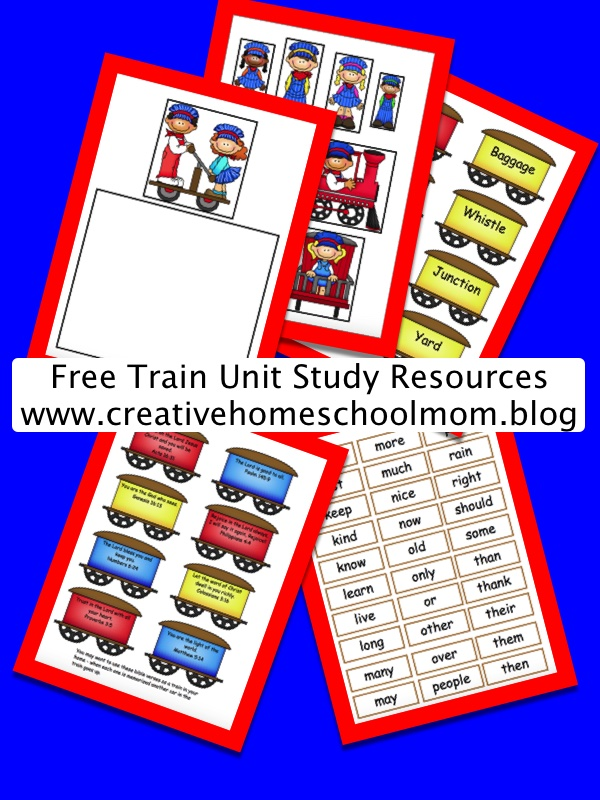 Train Unit Study Resources