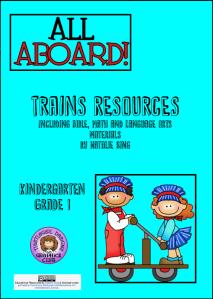 Trains Unit Study Resources Cover
