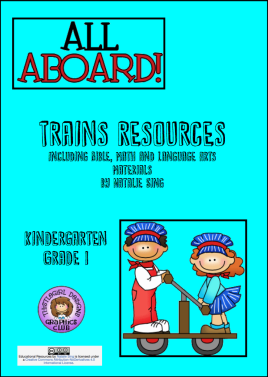Trains Unit Study Resources Cover